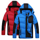 Mens Jacket Cotton Coat Hooded Parka Winter Overcoats Outwear Windbreaker M-2XL