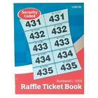 1000 RAFFLE TICKET BOOK (CLOAK ROOM TOMBOLA) WITH DUPLICATES SECURITY CODED NEW