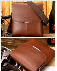 Brand New Men's Genuine Leather Crossbody Messenger Shoulder Bag Black or Brown