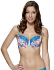 Lepel Rosey Blue and White Floral Print Balcony Bra 148401