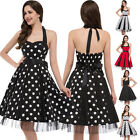 VTG Retro Style 50s Polka Dot Swing Evening Pinup Prom Rockabilly Party Dresses