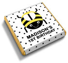 50 Personalised Bumble Bee / Black Spots Birthday Party Favour Chocolates