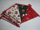 Hand Made 10ft /13 Flag Christmas Fabric Bunting Garland Decoration Santa