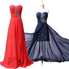 PLUS SIZE Long Chiffon Vintage Evening Gown Prom Formal Party Bridesmaid Dresses