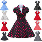 WOMENS 1950s 60s Retro Dresses Rockabilly Pinup Swing Evening Vintage SIZE XS-XL