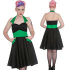 Hell Bunny Pin Up Rockabilly Gothic Vampiress Dress Green Black Goth Punk Vamp