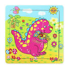 Hot Wooden Animal Puzzle Jigsaw Early Learning Baby Kids Educational Toys HUSS