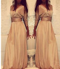 New Sexy Long Chiffon Formal Party Cocktail Evening Prom Wedding maxi Dress