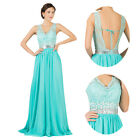 BEADED LACE DRESS Long Formal Wedding Bridesmaid Evening Prom Dresses Plus Size