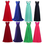 UK Chiffon Sexy Homecomnng Ladies Formal Long Bridesmaid Prom Gown Party Dresses