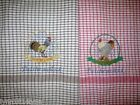 PERSONALISED CHICKEN,ROOSTER TEA TOWELS with NAME OF TOWN OR TO YOUR CHOOSE