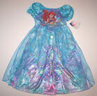 Nwt New Disney Princess Ariel the Little Mermaid Nightgown Costume Dress Girl