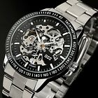 ESS Mechanical Men's Gold Black Skeleton Automatic Stainless Steel Sport Watch