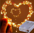 2M/5M Battery Powered Copper Wire 20/50leds Christmas Outdoor String Fairy Light