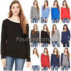 Bella + Canvas Womens Triblend Wideneck Sweatshirt Dolman Sleeve S-2XL 7501