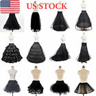 Girls Womens A-Line Ball Gown Petticoat Crinoline Bridal Underskirt Slips Black