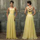 Vintage Straps Long Formal Evening Ball Gown Party Prom Bridesmaid Dress Sz 6-18