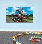 Thomas Train Stretched Canvas Print Framed Wall Art Kids Nursery Decor Painting