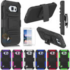 For Samsung Galaxy S6 Active G890 Armor Shockproof Stand Hard Case Cover Holster