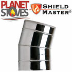 Stainless Steel Shieldmaster 15 Degree Elbow For Twin Wall Flue Pipe