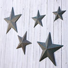 Vintage Chic Shaker Style Metal Star Wall Plaque Distressed Aqua Blue