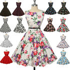 FREE SHIP~ 1950S 1960s Retro Floral Housewife Party Swing Pinup Dress