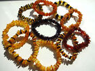 Baltic Amber Bracelets strung on a elastic- Choose your color!!!