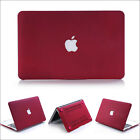 """2015 Wine Red Quicksand Hard Case Cover for MacBook 12""""/ Air Pro 11"""" 13"""" 15""""inch"""