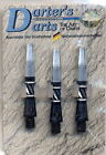 DARTEX DARDI 3pz per Freccette base nero & OTTONE Punte Darter's Arts Flights