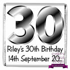 Personalised DIY Birthday Party Milk Chocolate Square Favours Gifts Numbers