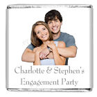 Personalised DIY Engagement Party Milk Chocolate Square Favour Photo EPLSC22