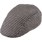 Summer 100% Linen Breathable Classic Ivy League Flat Cap ; Retro Duckbill Thug