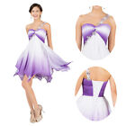 Satin Short Graduation Homecoming Prom Gowns Cocktail Fairy Party Evening Dress