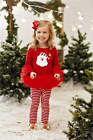 Mud Pie Christmas Santa Skirt Set Girl Size 3M-5T #1112277 NWT