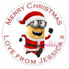 PERSONALISED CHRISTMAS CIRCLE STICKERS GIFT FAVOUR (Buy 2 get 1 free) XDCS46