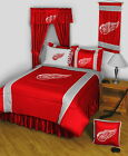 Detroit Red Wings Comforter Bedskirt Sham Valance & Curtains Twin to King Size