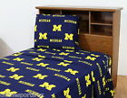 Michigan Wolverines Sheet Set Twin Full Queen King Size Cotton