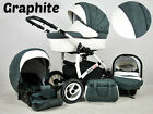 Baby pram White Lux 3in1 pushchair+carrycot+seat car!a lot of colors!
