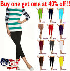 skinny ties.com - Womens capri leggings seamless skinny slim fit cropped solid yoga pants one size