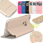 Window Leather Magnetic Flip Hard Case Thin Cover for Apple iPhone 6 6S PLUS