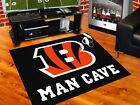 "Cincinnati Bengals Man Cave Area Rug 34"" x 44"", 5 ft x 6 ft or 5 ft x 8 ft"
