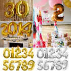 """16"""" & 40"""" Helium Foil Balloons Birthday Party Wedding Festival Number """"0-9"""""""