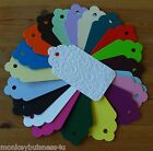 Tag Die Cuts - Large Embossed Scallop Tag - Flower Flourish - Wedding - Gifts