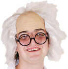 HALLOWEEN-Horror-Scary-Lunatic-Scientist-MAD MAN WIG & GLASSES SET One Size