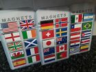 Choice of World Flag Fridge Magnet. NEW. Union Jack, USA, Spain, France etc