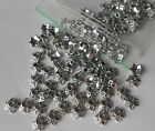 25/50/100 x Tibetan Antique Silver Flower Caps Ends Cone Spacer Beads -  7mm C2