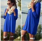 Fashion New women Sexy Casual Long Sleeve T-shirt Long Tops Blouse Mini Dress