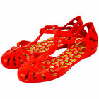 "LADIES DESIGNER ""ZAXY"" SUNDAY SANDALS - RED - SIZES 35/36 - 41/42 BRAND NEW"