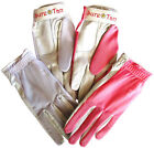 Cabretta Leather Golf Glove Sure Tan Through Mesh Back Sun Ladies Small - Large.