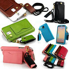New Wallet Credit Card Holder PU Leather Stand Phone Case Cover For Cell Phones